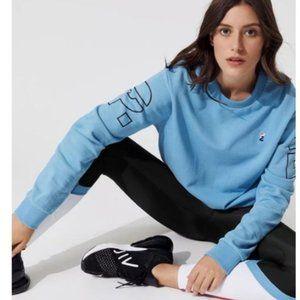P.E Nation Moneyball Sweatshirt in Sky Blue